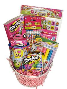 Best Gift Baskets, Themed Gift Baskets, Raffle Baskets, Shopkins Gifts, Simple Gifts, Inspirational Gifts, Easter Baskets, Gifts For Kids, Fundraisers