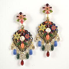 Colorful Drop Earrings by DUBLOS