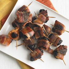 Also known as Devils on Horseback, these sinful bacon-wrapped bites are perfect for Halloween celebrations.