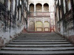These stairs were built to accommodate royals mounted on elephants