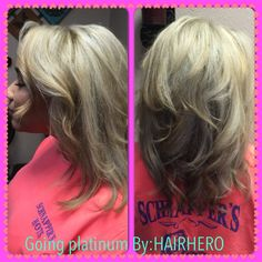 Going platinum by:HairHero  Takes time and a lot of great products to Maintain this kind of beautiful blonde