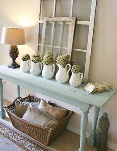 Easy & Creative Decor Ideas - Entry Table Display - Click Pic for 38 DIY Home Decor Ideas on a Budget