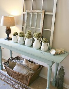 Easy & Creative Decor Ideas - Entry Table Display - Click Pic for 38 DIY Home Decor Ideas on a Budget