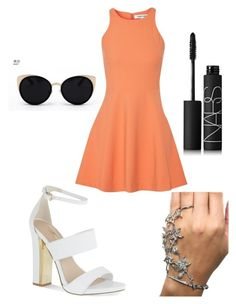 """""""Orangey"""" by heidikholm12 ❤ liked on Polyvore featuring Una-Home, Elizabeth and James, Carvela and NARS Cosmetics"""