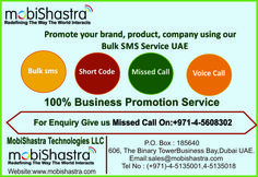Mobishastra offers a quality telecom services dubi and enterprise solutions dubi to their customers with innovative ideas.It is one of the largest providers of VAS services for millions of the customers around the world . Sms Short Code, Promote Your Business, Mobile Marketing, Dubai, Promotion, Innovation, Coding, Technology, Tech