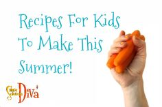 "With kids out of school during summer break, the two most dreaded phrases parents will hear are, ""I'm Bored! Kids Meals, Easy Meals, Simple Recipes, Summer Recipes, Summer Boredom, Cooking With Kids, Food Videos, Summer Fun, Food To Make"