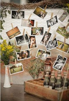 maybe spray paint the chicken wire turquoise and the clothes pins white would be definitely cute for a country room! Old Wedding Photos, Wedding Images, Camp Wedding, Rustic Wedding, Wedding Reception, 40th Party Ideas, My First Apartment, Clothes Pegs, Ideas Para Fiestas