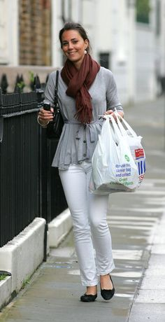 July 3 2007. Kate Middleton proves she not too posh to shop as she pictured leaving Tesco in SW London.
