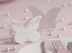 freestanding laser cut butterfly place cards by ginger ray | notonthehighstreet.com