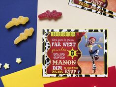 {Birthday} Les invitations toys story à imprimer! Free printable  birthday invitation & tag Fête Toy Story, Le Far West, Printable Invitations, Birthday Celebration, Rsvp, Free Printables, Celebrations, Ideas, Tropical Party