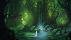 Want to discover art related to fantasy? Check out inspiring examples of fantasy artwork on DeviantArt, and get inspired by our community of talented artists. Fantasy Forest, Forest Art, Magical Forest, Forest Painting, Lake Forest, Fantasy Places, Fantasy World, Fantasy Art, Fantasy Landscape