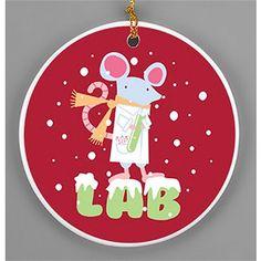 """""""Lab"""" Rat Porcelain Ornament"""
