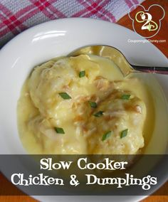 One of my comfort foods is slow cooker chicken and dumplings.  You have have your kids mix the dumplings and they will be so excited that they helped with dinner.  You can also add a cup of your favorite vegetables to make this a complete meal.