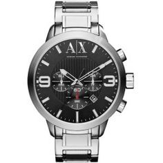 7ebd9fc9d2b Armani Exchange Men s Round Silver Stainless Steel Watch - product - Product  Review Sport Watches