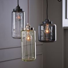 We need lighting to replace the old dining room style chandelier.  These have the perfect industrial warehouse vintage look.