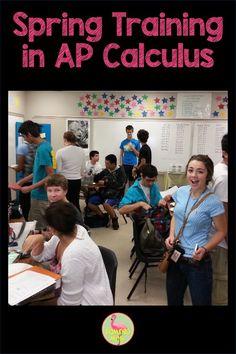 Spring Training In AP Calculus – Flamingo Math with Jean Adams Math Lesson Plans, Math Lessons, Last Day Of School, School Stuff, High School, Exam Day, Ap Calculus, Ap Exams, Secondary Teacher