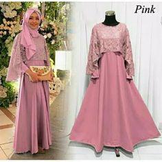 Jual Gamis Hijab Set N Tas - Bagusshoppe Kebaya Muslim, Dress Brokat Muslim, Muslim Gown, Kebaya Brokat, Modest Fashion Hijab, Abaya Fashion, Hijab Chic, Kebaya Dress, Dress Pesta