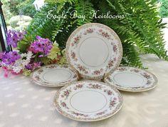 4 Salad Plates NORITAKE Japan  Somerset Pattern  5317
