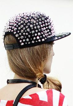 All-over Spike Studded Cap Hat £35.00