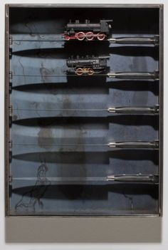 Jannis Kounellis, 'Untitled (Knife and Train)' 2002  Art Experience NYC  www.artexperiencenyc.com