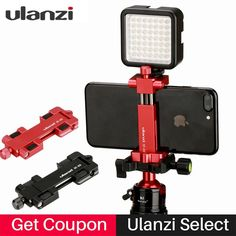 Multi-function Aluminium Tripod Mount Stand Adapter stand mount tripod for iPhone 8 7plus for Andriod Mobile Phone Holder