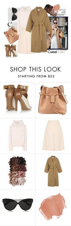 """Wear a Camel Coat!"" by harperleo ❤ liked on Polyvore featuring Sergio Rossi, Chloé, Jardin des Orangers, Jill Stuart, LORAC, Loewe, Linda Farrow and camelcoat"