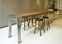 find this pin and more on work kitchen - Long Kitchen Tables