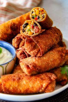 recipe: southwest chicken egg rolls [30]