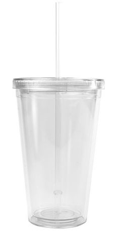 Bpa Free 16 Ounce Double Wall Acrylic Tumbler With Lid And Straw Reusable Clear