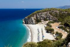 Playa de Tsambou en Samos, Islas Griegas