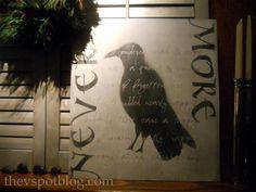 DIY Halloween : DIY The Raven  Artwork