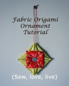 Fabric origami ornament tutorial by Sy-elsk-lev, via Flickr- after the origami ninja stars this should be easy haaa!