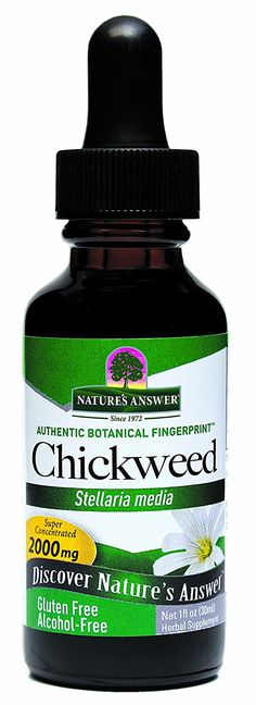 Nature's Answer Alcohol-Free Chickweed Herb, 1-Fluid Ounce >>> New and awesome product awaits you, Read it now  : Herbal Supplements