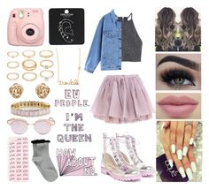 """""""Untitled #38"""" by steliana-ungureanu ❤ liked on Polyvore featuring Sophia Webster, H&M, Boohoo, Sydney Evan, Quintess, Forever 21, ban.do, Le Specs, Olympia Le-Tan and Fujifilm"""