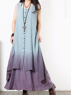 Women Cotton Linen Maxi Dress Loose Dress Summer Dress Short Sleeve Dress Large Size Dress For Women
