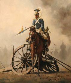 Lancero del Regimiento Farnesio saltando una pieza de artillería - 1849. Más en www.elgrancapitan.org/foro