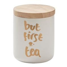 But First Tea Canister