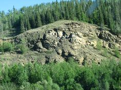 The cliff overlooking the Salcha River along the Richardson Highway. My friends and I used to party up on the top.