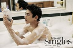 Sung Joon Gets Bubbly For Singles' September 2015 Issue   Couch Kimchi