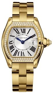 Cartier Roadster 18kt Yellow Gold Diamond Ladies Watch WE5001X1