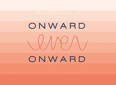 Onward Ever Onward Missionary Note Card/ Journal Card