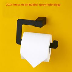 2017 latest model Rubber spray technology Stainless Steel Bathroom Accessories Black Toilet Roll Paper Holder
