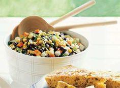 Black Bean, Jicama, and Grilled Corn Salad: Recipe: bonappetit.com
