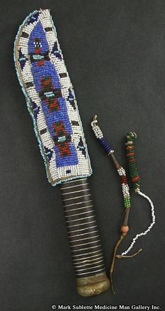 Awl Cases and Knife Sheaths - Sioux Beaded Knife Sheath