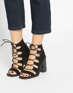 Image 1 of ASOS EDEN Lace Up Ankle Boots