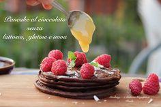 Pancake al cioccolato senza glutine lattosio e uova