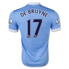 Youth 2015/16 Manchester City Kevin De Bruyne Soccer Jersey and Shorts Set
