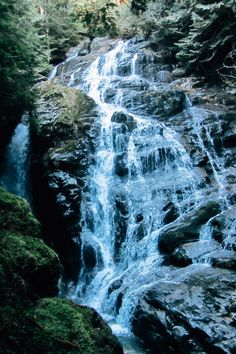 Kennedy Falls is a spectacular waterfall that is located below the Kennedy Lake Watershed