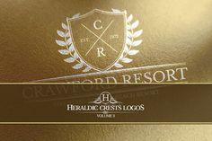 Heraldic Crest Logos Vol.3 by Zeppelin Graphics on @creativemarket