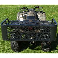 Black Widow Steel Mesh Atv Rear Rack Drop Basket Cool